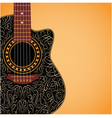 Gradient background with clipped guitar vector