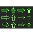Set of arrows of green light vector