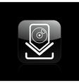 Cd download icon vector
