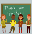 Thank you teacher vector