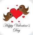 Birds valentines day vector