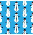 Snowman seamless pattern vector