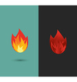 Logo fire flame icon set in format vector