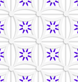 Geometric white pattern with layered purple vector