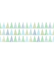 Abstract christmas trees forest in snow vector