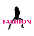Fashion and black girl silhouette vector