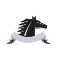Angry horse head side retro vector
