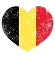 Belgium heart retro flag vector
