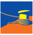 Knecht and mooring ropes vector