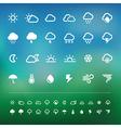 Retina weather icon set vector