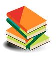 Books pile vector