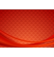 Red tech wavy background vector