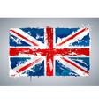 Grunge uk national flag vector