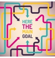 Background with arrows and place for main goal vector