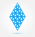 Blue symbol made of triangles - abstract rhombus vector