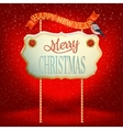 Christmas vintage card with signboard eps 10 vector