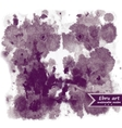 Abstract ink background rorschach test vector