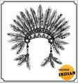 American indian chief headdress vector