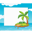 Banner with island vector