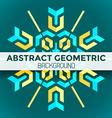 Blue yellow green abstract geometric mandala vector
