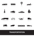 Transportation icons eps10 vector