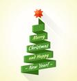 Abstract stripe christmas tree vector