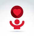 Charity and donation symbol of a red loving vector