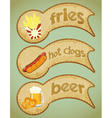 Food labels retro vector