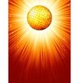 Sparkling orange red disco ball eps 8 vector