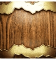 Golden and wood background vector