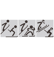 Nordic combined icons vector