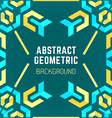 Blue yellow green abstract geometric pattern vector