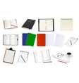 Mega set notebooks and papers vector