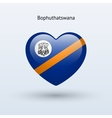 Love bophuthatswana symbol heart flag icon vector
