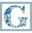 Blue letter g vector