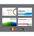Business card template set 002 vector