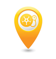 Wheel pump icon yellow map pointer vector