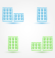 Minimal buildings icons - simple house symbol in vector