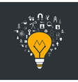 Yellow bulb vector