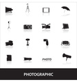 Photographic icons eps10 vector