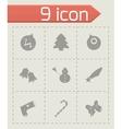 Cristmas icons set vector