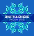 Blue green symmetric abstract geometric mandala vector