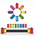 Film roll color vector
