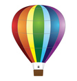 Colorful air balloon vector