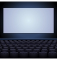 Cinema theatre with screen and seats vector