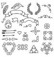 Set of hand draw design elements vector