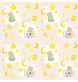 Baby bear seamless pattern vector