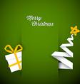 Simple green christmas card vector