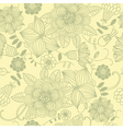 Bright floral seamless pattern vector