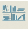 Bookshelf retro vector